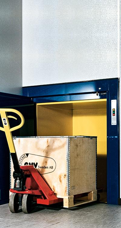 Palettenaufzug Paletti Montage und Vertrieb durch paderlift